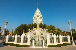 Серебряная пагода/королевский дворец, Пномпень, Камбоджа стоковое изображение rf