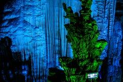 Серебряная пещера в графстве Yangshou, Guilin Китае Стоковые Изображения