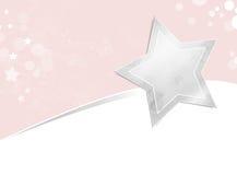 Серебряная предпосылка звезды Стоковая Фотография RF