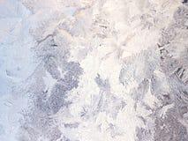 Серебряная предпосылка зимы с картиной заморозка Стоковое Изображение RF