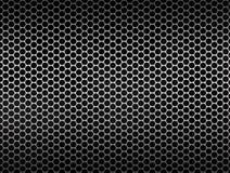 Серебряная предпосылка текстуры сетки металла Стоковые Фотографии RF