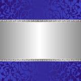 Серебряная предпосылка Стоковое фото RF