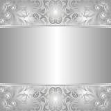 Серебряная предпосылка Стоковые Изображения RF