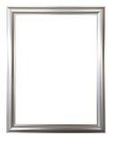 Серебряная рамка для картин, зеркал или фото Стоковое Изображение
