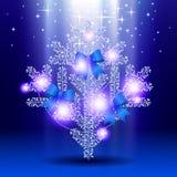 Серебряная рождественская елка Стоковая Фотография RF