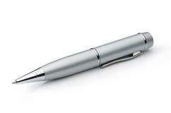 Серебряная ручка металла изолированная на белой предпосылке Стоковые Изображения