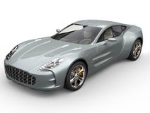 Серебряная синь резвится автомобильная съемка крупного плана Стоковое Изображение RF