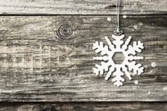 Серебряная снежинка рождества Стоковые Фото