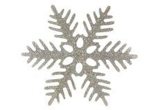 серебряная снежинка Стоковая Фотография