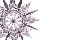 серебряная снежинка Стоковая Фотография RF