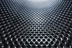 Серебряная стальная металлическая текстура отверстия Стоковое Изображение RF