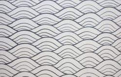 Серебряная стена картины волны Стоковые Фото