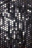 Серебряная ткань с sequins Стоковые Фотографии RF