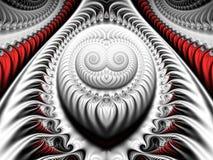 Серебряная фракталь Стоковые Изображения