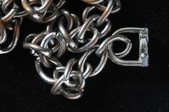 Серебряная цепная текстура стоковая фотография