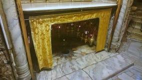 Серебряная церковь рождества - Вифлеем звезды стоковая фотография rf