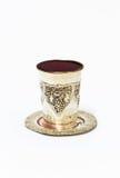 Серебряная чашка с красным вином Стоковое Изображение
