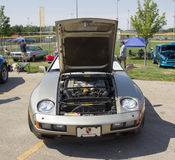1985 серебряное вид спереди Порше 928-S Стоковое Изображение