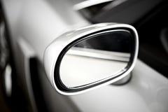 Серебряное зеркало бортового автомобиля Стоковая Фотография RF