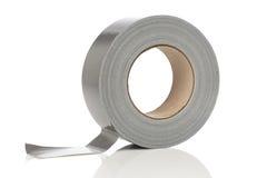 Серебряное клейкая лента для герметизации трубопроводов отопления и вентиляции Стоковые Изображения