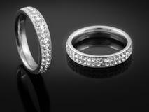 Серебряное кольцо дам Стоковые Фото