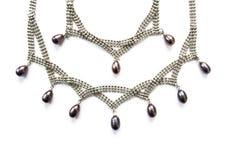 Серебряное ожерелье Стоковое Изображение