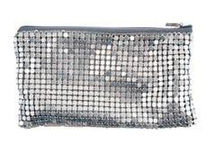 Серебряное портмоне женщины стоковые фото