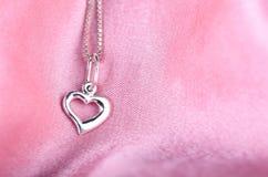 Серебряное сердце Стоковое Фото
