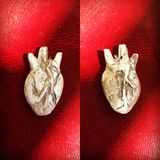 Серебряное сердце стоковое изображение rf