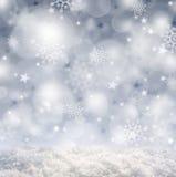 Серебряное backgound рождества Стоковое Изображение