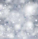 Серебряное backgound рождества Стоковая Фотография RF