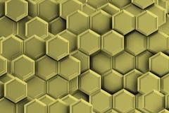 Серебряное backgound с шестиугольниками Стоковое Изображение