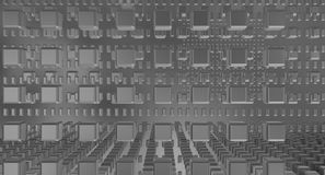 Серебряное bckground в сером космосе Стоковое Фото