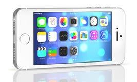 Серебряное iPhone 5s Стоковое Изображение RF