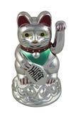 Серебряное Maneki Neko Стоковые Фото