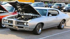 1969 серебряное Pontiac GTO Стоковая Фотография