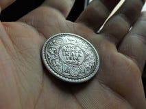 1 серебряное ruppee Индии стоковое изображение
