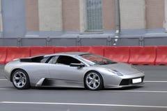 серебряное sportcar Стоковое фото RF