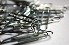 Серебряные бумажные зажимы Стоковые Изображения RF
