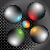 Серебряные глобусы бесплатная иллюстрация