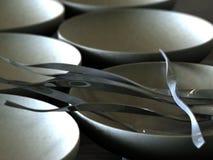 серебряные запутанные ручки Стоковая Фотография RF