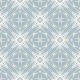 Серебряные звезды на снежной сини, картине вектора Стоковое фото RF
