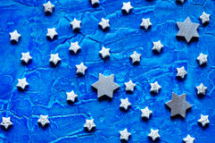 серебряные звезды Стоковое Изображение RF