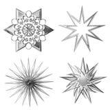 серебряные звезды Стоковые Фотографии RF