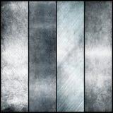 Серебряные знамена металла стоковые фотографии rf