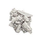 Серебряные изолированные тени для век Стоковые Изображения RF