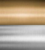 Серебряные и бронзовые текстуры металла стоковое изображение rf