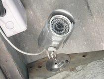 Серебряные камера слежения или CCTV Стоковая Фотография RF