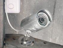 Серебряные камера слежения или CCTV Стоковое Изображение
