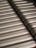 Серебряные коробки выровнянные вверх Стоковое Фото